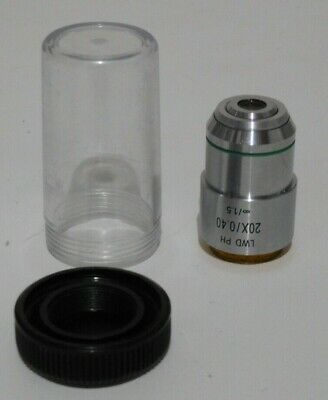 Fisher Zeiss Nikon Inverted Microscope 20x Lwd Phase Contrast Objective