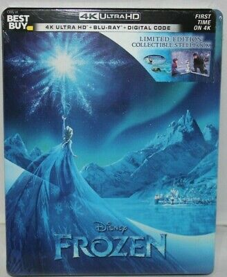 Frozen -  Best Buy Steel - 4K Ultra H/Blu-ray/Digital - New