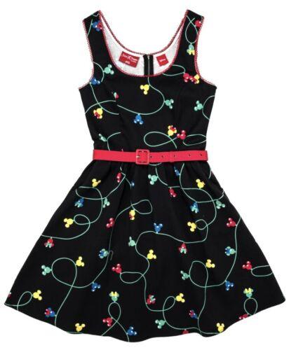 Loungefly Disney Dress Stitch Shoppe Mickey Minnie Mouse Black Adult M-2XL