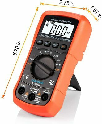 Auto-ranging Digital Multimeter Backlight Lcd Display Ms8233d Dcac Tester Light