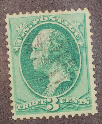 Scott 136 - 3 Cents Washington - Used - Nice Stamp Grilled Issue - SCV - $32.50