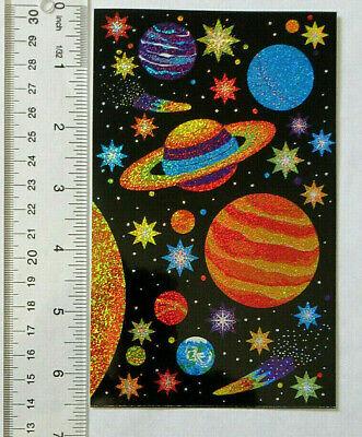 Solar System Stickers (Mrs Grossman SPARKLE SOLAR SYSTEM - Sheet of Solar System Stickers Info On)