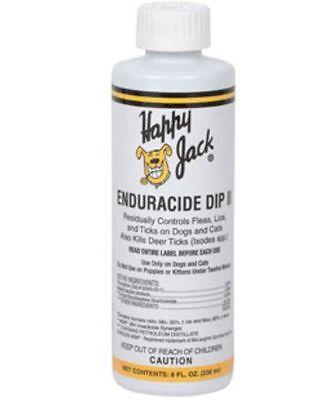HAPPY JACK Enduracide Dip II 8 oz Fleas Lice Ticks Dog Canine Smaller Breed - Happy Jack Dog Supplies
