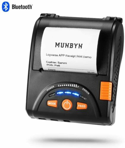 MUNBYN Bluetooth Receipt Printer, Android Bluetooth Mobile Printer P001