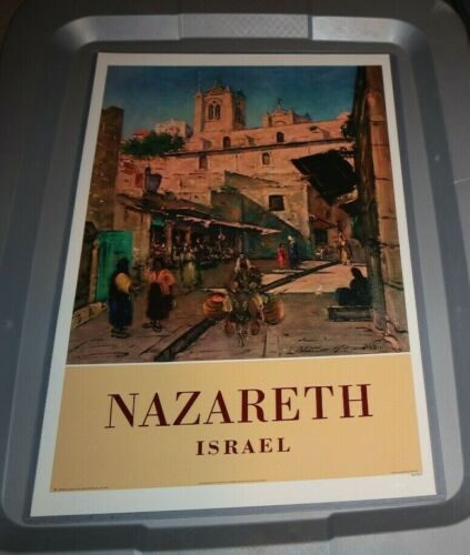 NAZARETH ISRAEL 11X17 REPRO POSTER - READY TO HANG TRAVEL AGENT