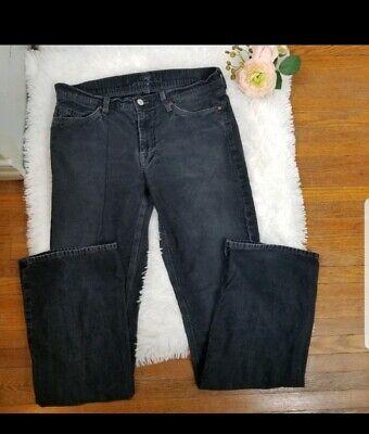 7 FOR ALL MANKIND 7FAM Women's Sz 31 FLYNT Corduroy Black Charcoal Pants 7 For All Mankind Corduroys