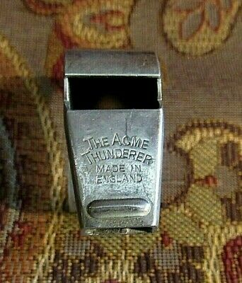 "Vintage 1940c > ""Acme Thunderer""  WHISTLE Made in England > 2 FINGER GRIP"