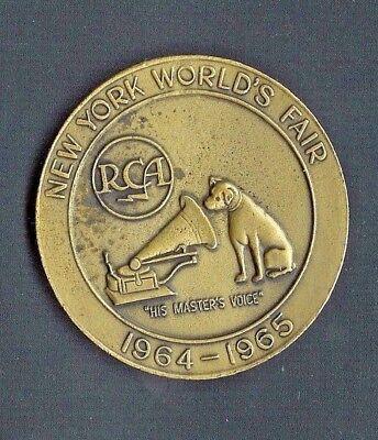 New York World's Fair Nipper Radio 1964-1965 RCA Exhibit Bronze Medal.-A723