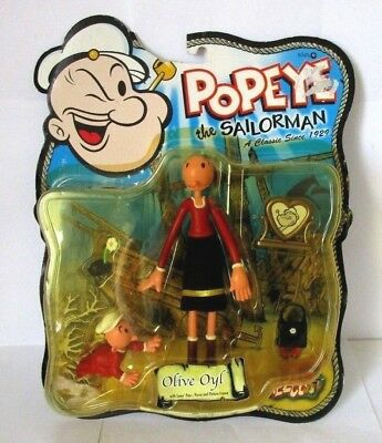 Popeye Olive Oyl (Mezco Popeye the Sailorman Olive Oyl collectable figure 2001- UNUSED FROM NEW)