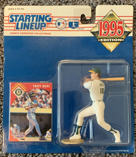 Troy Neel Oakland Athletics A s 1995 Starting Lineup World Series Baseball NIB - $14.99