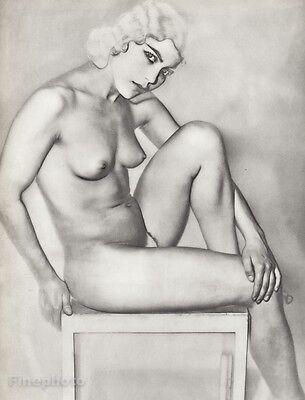 1930 MAN RAY Photo Gravure NATACHA FEMALE NUDE Surreal Modernist Art FRAME READY