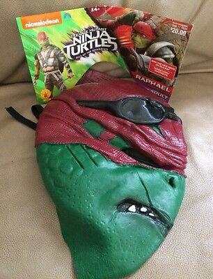 Raphael Adult Costume Mask Teenage Mutant Ninja Turtles Nickelodeon Rubies Co.