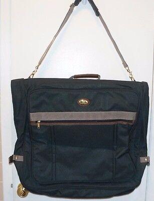 """American Flyer Garment Bag Hanging Suit Bi-fold Luggage Laptop Green Travel 44"""""""