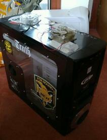 PC case with 3 fans