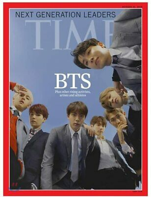 🔥[FREE WORLDWIDE SHIPPING] BTS Time Magazine + Poster(Unfolded) + TRACKING