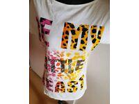 Buntes Leo Shirt#pink#gelb#orange#weiss#xs#34#S#36#Tshirt#Mädchen Nordrhein-Westfalen - Bergisch Gladbach Vorschau