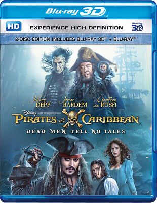 Pirates Of The Caribbean  Dead Men Tell No Tales  Blu Ray 3D   Blu Ray   New