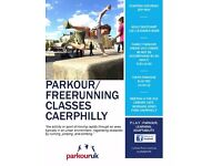 PARKOUR freerunning classes Caerphilly