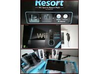 Nintendo Wii resort sport pack, 2 controllers & numbchucks