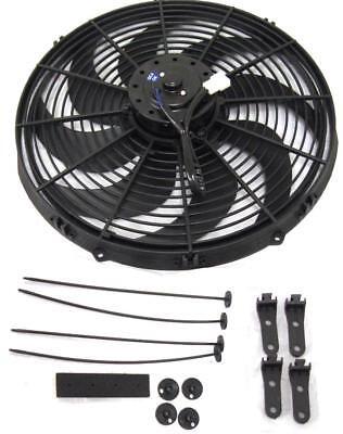 "16"" Inch Electric Radiator Fan Pusher Puller 120w High Power Motor 3000+ CFM"