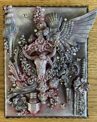 "Handmade Bespoke Mixed Media Collage ""Dead Treasure"" Unique Art Gift"