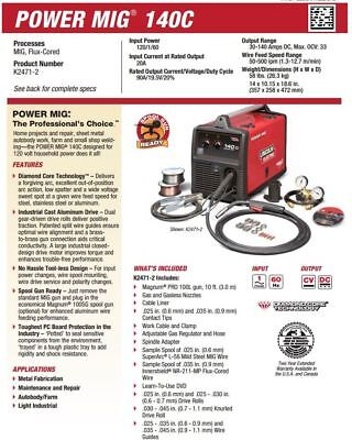Lincoln Power Mig 140c Mig Welder