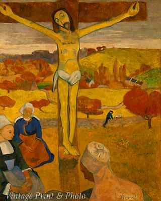 The Yellow Christ by Paul Gauguin Art Jesus Cross Crucify Women 8x10 Print 0954