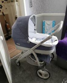 Brand newI pop el blue denim pram