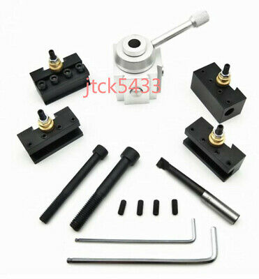 Set Mini Quick Change Tool Post Holder Aluminum Alloy Kit For Tablehobby Lathe
