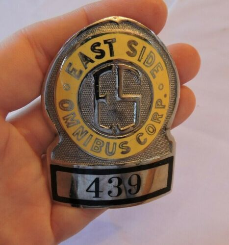 1940s? Lower East Side New York City Omnibus Co. NYC Badge Antique Defunct