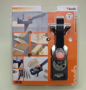 Dowelling jig wood jointing dowel & drill guide set + 3 wood drills & 150 dowels
