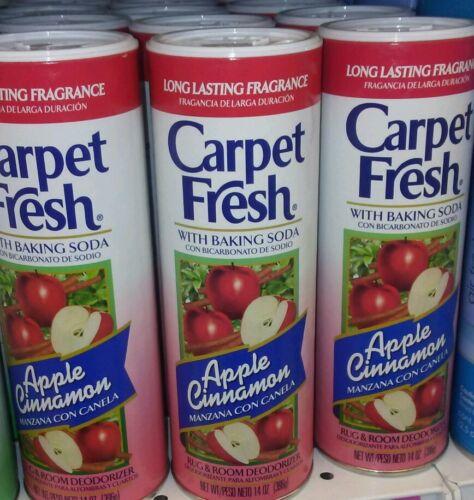 3 CARPET FRESH, Rug & Room Deodorizer Powder, Vacuum , APPLE