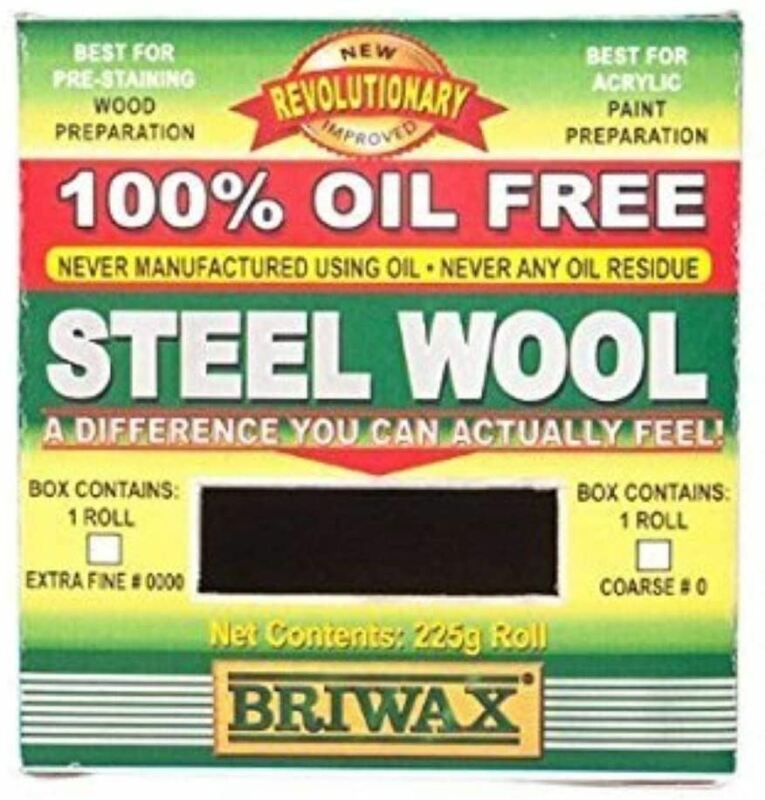 Briwax Steel Wool in Silver - Oil Free for Acrylic Paint Preparation - 225g Roll