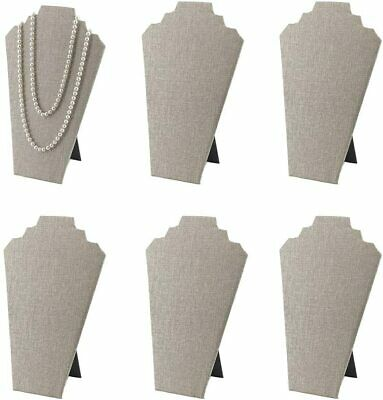 7th Velvet 1 12.5inches Necklace Display Stand Easel Jewelry 1 Only Beige