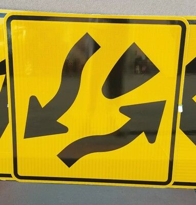 New Divided Highway  Aluminum California Caltrans Highway Nos Sign 36X36 Nos