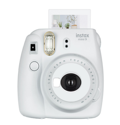 Fuji Film Istax Mini 9 Instant Camera w/ Selfie Mirror Smoky
