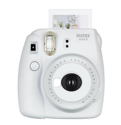 Fuji Film Istax Mini 9 Instant Camera w/ Selfie Mirror Smoky