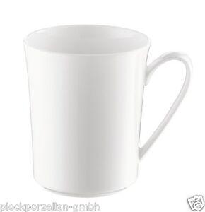 ROSENTHAL JADE weiß Fine Bone China Becher mit Henkel Kaffeebecher 0,4 l