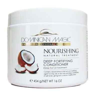 - Dominican Magic Deep Fortifying Conditioner, 16 oz DEEP HOT OIL TREATMENT