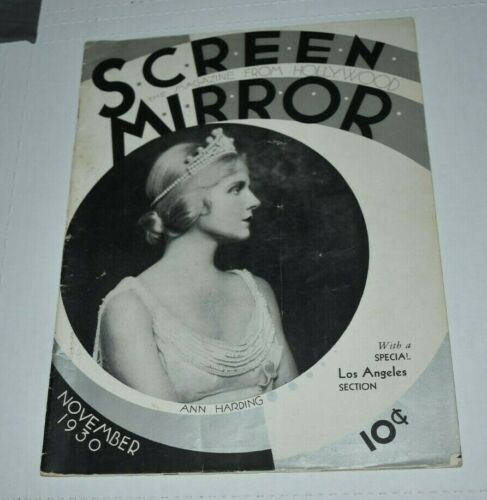 SCREEN MODERN MAGAZINE  Nov 1930 Vintage Movie Magazine Ann Harding Dietrich