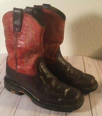 CHILDREN/'S//YOUTH ARIAT TOMBSTONE SQUARE TOE WESTERN BOOTS BLUE UPPER 10012794