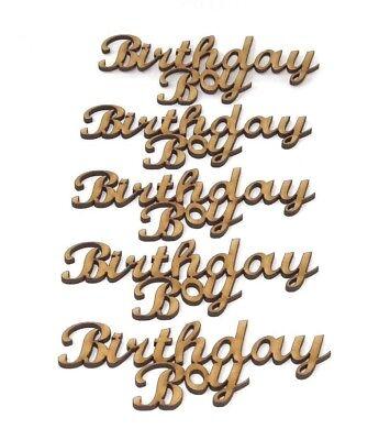 Boy Birthday Ideas (Birthday Boy Wooden MDF Craft Wording, Birthday Boy quote Boy Birthday)