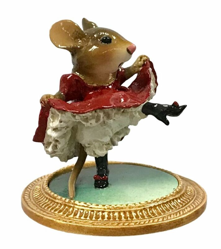 WEE FOREST FOLK Collectible MU-5 CAN CAN MOUSE WITH BOX VERY RARE