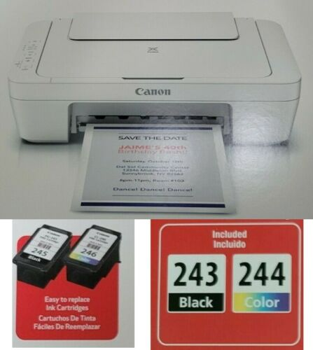 NEW 🔥 Canon PIXMA MG2522 All-in-One Color Inkjet Printer-INK & CABLE INCLUDED🖨