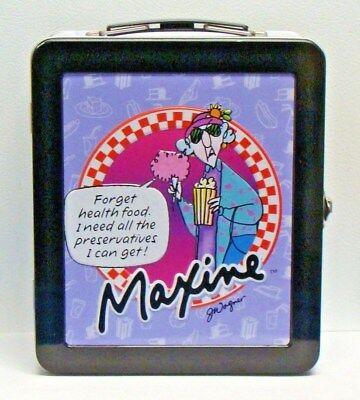 Hallmark Cards Maxine Lunchbox Metal Tin Storage Box Lunch Carrier Floyd Dog