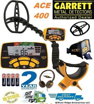 Garrett Ace 400 Metal Detector Water-proof Coil Headphones Free Accessories
