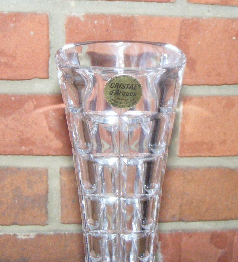 cristal d 39 arques genuine lead crystal vase picclick. Black Bedroom Furniture Sets. Home Design Ideas