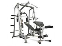 Bodymax CF380 Smith Machine (including 195kg Olympic weights, dumbbells, and accessories)