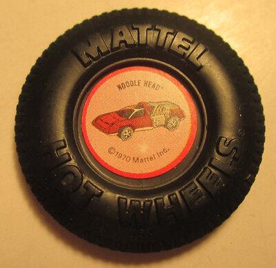 Vintage Mattel Hot Wheels Plastic Badge/Button - Noodle Head