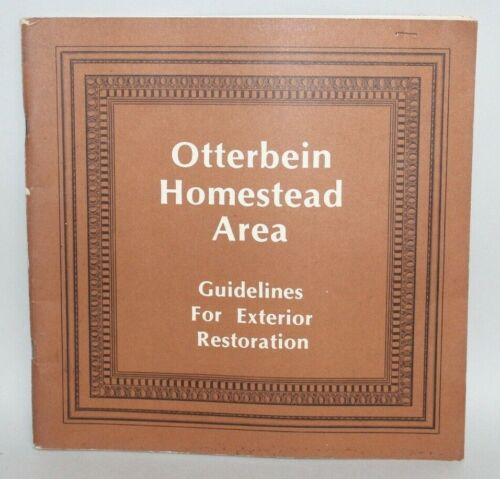 Vtg Architectural Book OTTERBEIN HOMESTEAD AREA Baltimore Maryland GUIDELINES